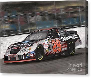 Kevin Harvick Racing Canvas Print by Paul Kuras