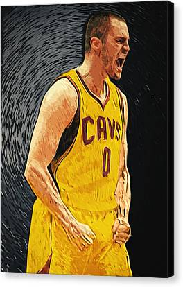 Kevin Love  Canvas Print by Taylan Apukovska
