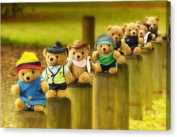 Kevs Teddys 02 Canvas Print by Kevin Chippindall