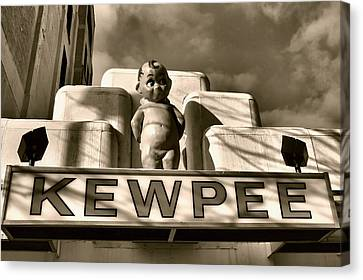 Hamburger Canvas Print - Kewpee Restaurant by Dan Sproul