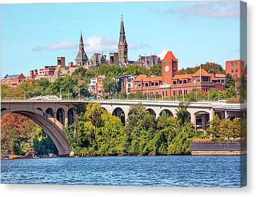 Key Bridge, Potomac River, Georgetown Canvas Print