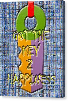 Key To Happiness Canvas Print by Patrick J Murphy