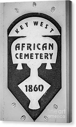 Key West African Cemetery 3 - Key West - Black And White Canvas Print by Ian Monk