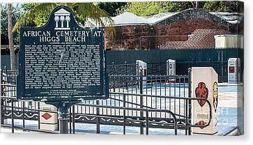 Key West African Cemetery 7 - Key West - Panoramic  Canvas Print by Ian Monk
