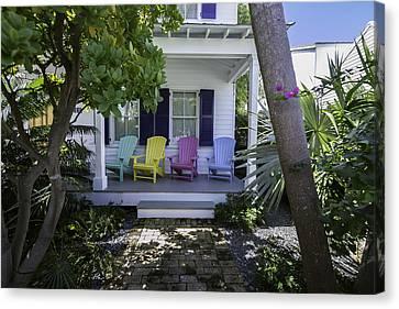 Key West Chairs Canvas Print by Paul Plaine