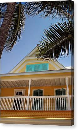 Canvas Print featuring the photograph Key West House by Glenn DiPaola