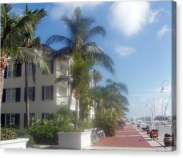 Canvas Print featuring the photograph Key West In Florida by Teresa Schomig