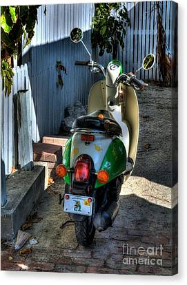 Key West Scooter Canvas Print by Mel Steinhauer