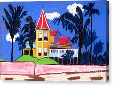 Key West Southern House Canvas Print by Lesley Giles
