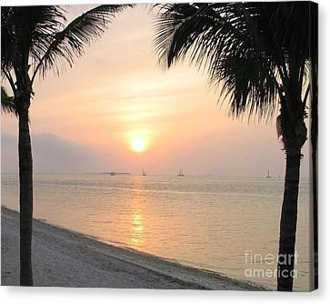 Canvas Print featuring the photograph Key West Sunet by Shelia Kempf