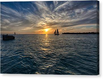 Key West Sunset Canvas Print by John Hoey