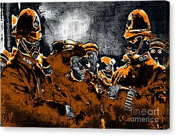 Keystone Cops - 20130208 Canvas Print by Wingsdomain Art and Photography