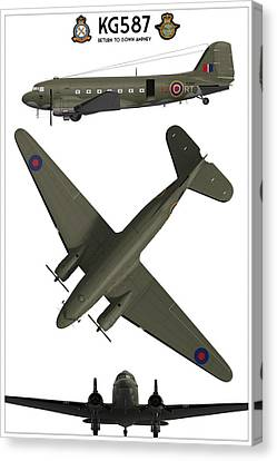 Kg587 - Return To Down Ampney Canvas Print by Hangar B Productions