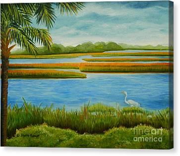 Canvas Print featuring the painting Kiawah Marsh by Shelia Kempf