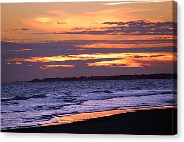 Kiawah Sunset Canvas Print by Rosanne Jordan