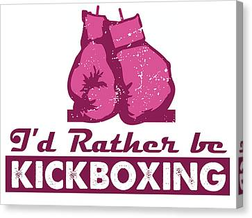 kick boxer - Female Kickboxer Canvas Print by MotionAge Designs