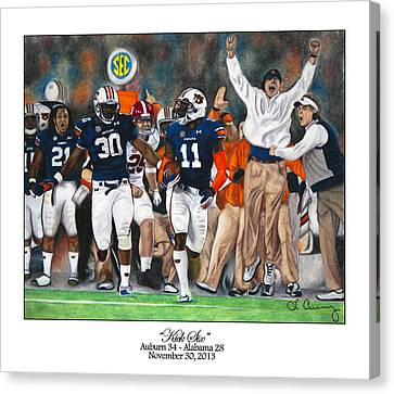 Blue Ford Canvas Print - Kick Six by Lance Curry