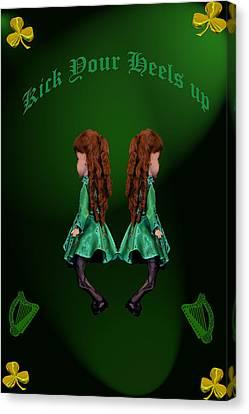 Kick Your Heels Up Canvas Print by LeeAnn McLaneGoetz McLaneGoetzStudioLLCcom