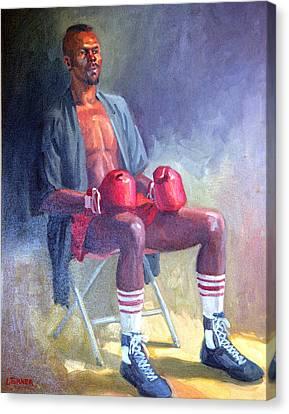 Kickboxer Canvas Print by Leona Turner