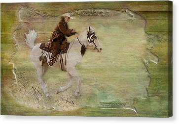 Stallion Canvas Print - Kicking Up Some Dirt by Susan Candelario
