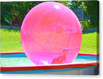 Kid In Bubble Ball 2 Canvas Print by Lanjee Chee