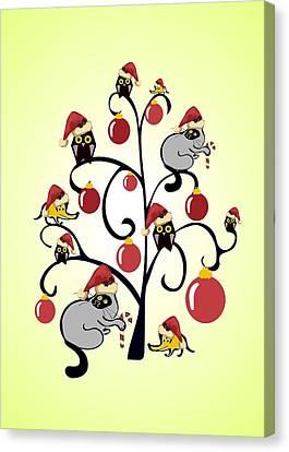 Kids Christmas Canvas Print