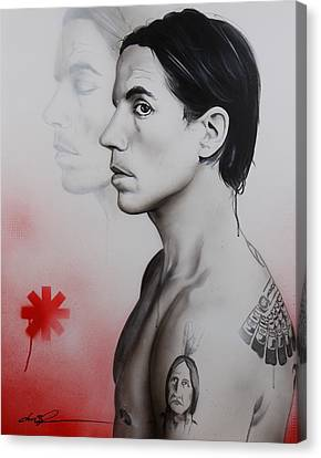 Anthony Kiedis - ' Kiedis Apache Soul ' Canvas Print by Christian Chapman Art