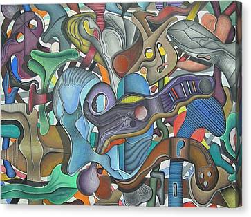 Kieko Alteration #3 Canvas Print by George Curington