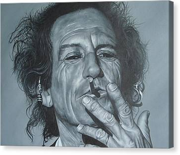 Keith Richards Canvas Print - Keith Richards by David Dunne