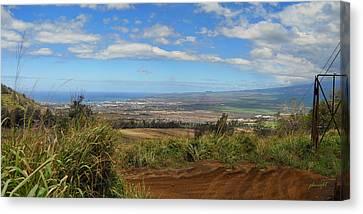 Flyin Hawaiian Canvas Print - Kihei And Maalaea by Paulette B Wright