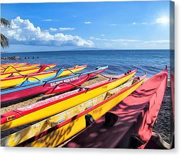 Canvas Print featuring the photograph Kihei Canoe Club 6 by Dawn Eshelman