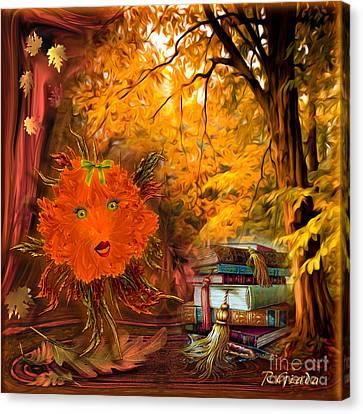 Kikki The Fluffy Flower Storyteller Canvas Print by Giada Rossi