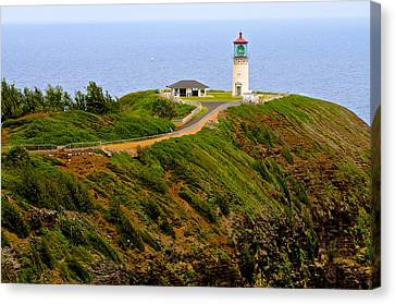 Kilauea Lighthouse In Color Canvas Print