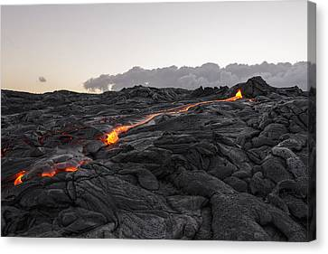 Volcano Rock Canvas Print - Kilauea Volcano 60 Foot Lava Flow - The Big Island Hawaii by Brian Harig