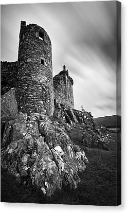 Ruin Canvas Print - Kilchurn Castle Walls by Dave Bowman