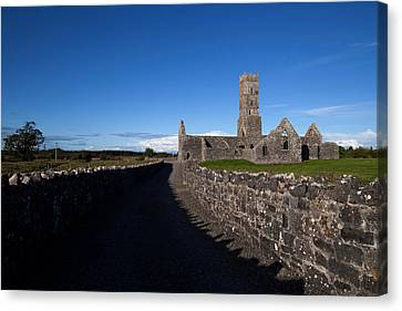 Kilconnell Friary Founded In 1353 Canvas Print by Panoramic Images