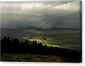 Canvas Print featuring the photograph Kildonan Strath Northern Highlands Of Scotland by Sally Ross