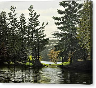 Canvas Print featuring the painting Killarney by Kenneth M  Kirsch
