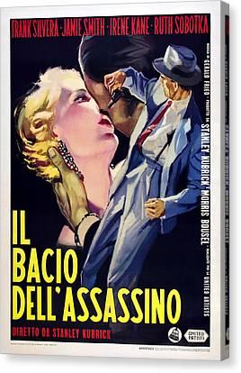 1950s Poster Art Canvas Print - Killers Kiss, Italian Poster, Irene by Everett
