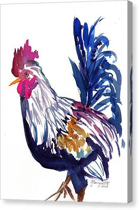 Kilohana Rooster Canvas Print by Marionette Taboniar