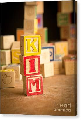 Kim - Alphabet Blocks Canvas Print
