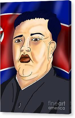 Kim Jong Un Canvas Print by Ironheart Illustrations