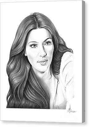 Kim Kardashian Canvas Print by Murphy Elliott