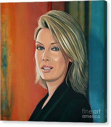 Selecting Canvas Print - Kim Wilde Painting by Paul Meijering