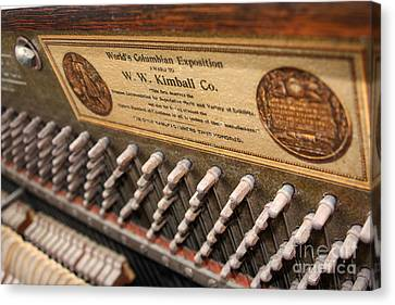 Kimball Piano-3476 Canvas Print by Gary Gingrich Galleries