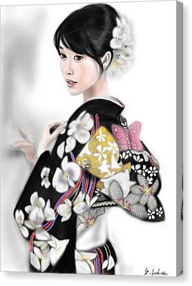 Kimono Girl No.1 Canvas Print by Yoshiyuki Uchida