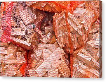 Woodpile Canvas Print - Kindling by Tom Gowanlock