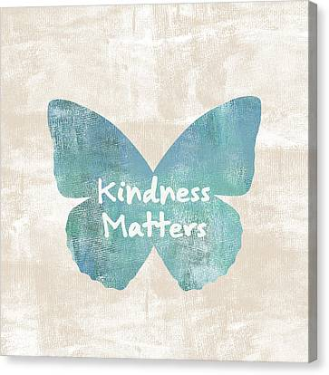 Kindness Matters Butterfly Canvas Print