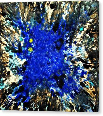 Kinetic Blue Canvas Print by Joan Reese