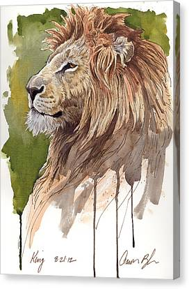 King Canvas Print by Aaron Blaise